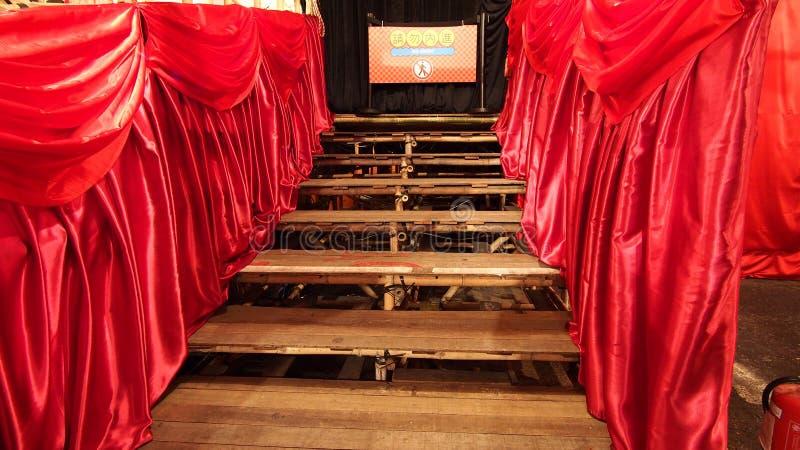 Teatro chino de bambú del oeste de la ópera de Kowloon en Hong Kong imagen de archivo libre de regalías
