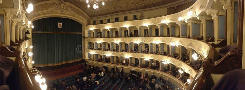 Teatro Civico Cagnoni - Vigevano - picovolte - Italie image libre de droits