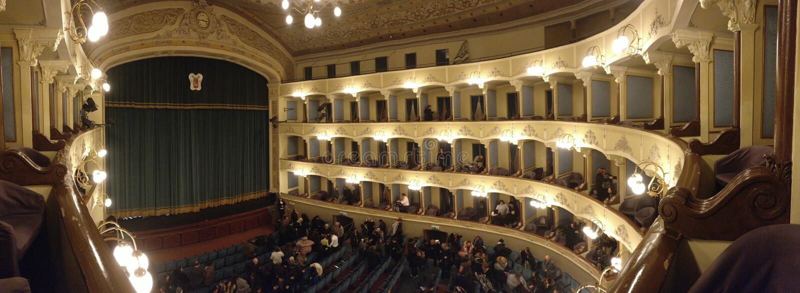 Teatro Civico Cagnoni - Vigevano - Pv - Италия стоковое изображение rf