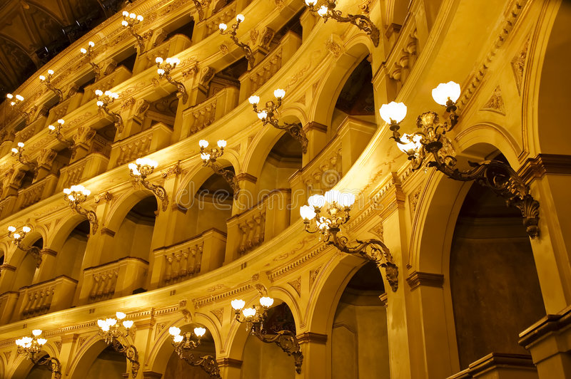 Teatro classico italiano immagine stock libera da diritti