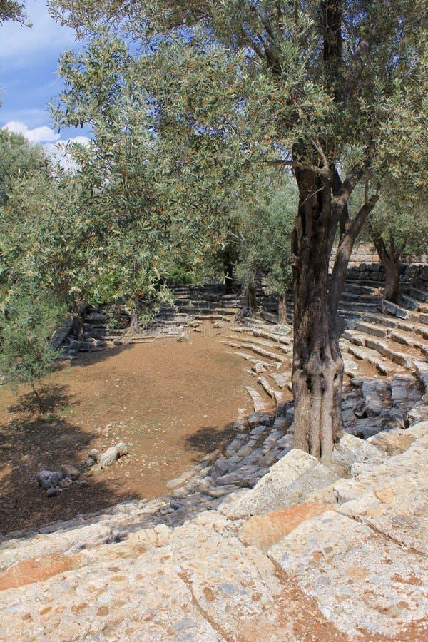 Teatro Cleopatra Island imagen de archivo libre de regalías