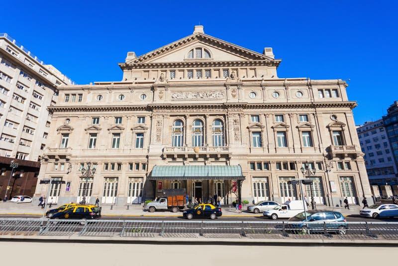 Teatro Colon, Buenos Aires. BUENOS AIRES, ARGENTINA - APRIL 14, 2016: Teatro Colon (Columbus Theatre) is the main opera house in Buenos Aires, Argentina. It is royalty free stock photos