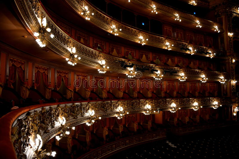 Teatro Colon, Buenos Aires, Argentina. Boxes of Teatro Colon, Buenos Aires stock photos