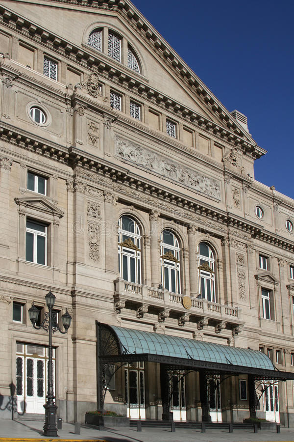 Teatro Colon in Buenos Aires. Teatro Colon, considered to be amongst the five best concert venues in the world royalty free stock photo