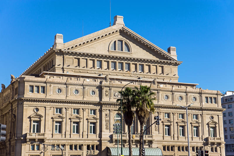 The Teatro Colon in Buenos Aires stock images