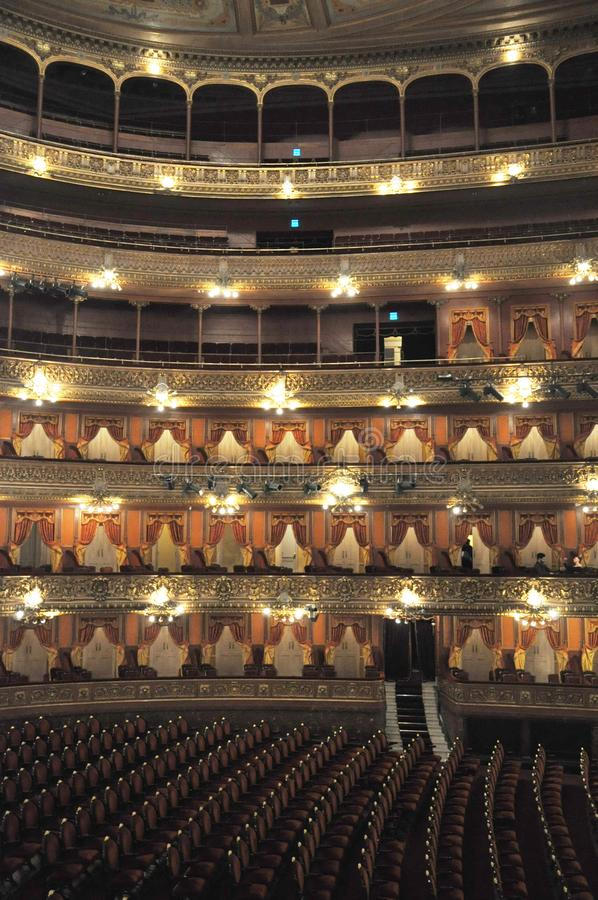 Teatro Colon. Colombus Theatre. Buenos Aires. Argentina. Opera House. The Teatro Colón Spanish: Columbus Theatre is the main opera house in Buenos Aires royalty free stock image