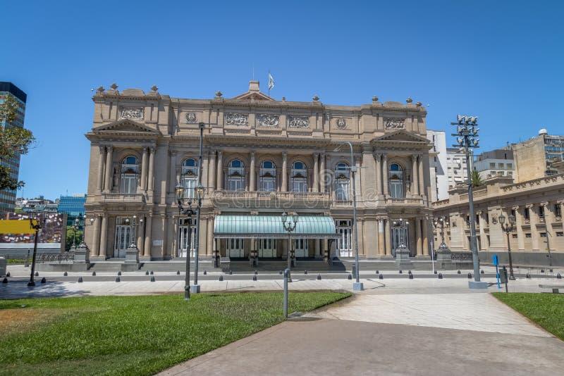 Teatro Colon Columbus Theatre - Buenos Aires, Argentina. Buenos Aires, Argentina - Feb 2, 2018: Teatro Colon Columbus Theatre - Buenos Aires, Argentina royalty free stock images