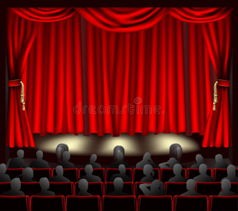 Teatro con la audiencia libre illustration