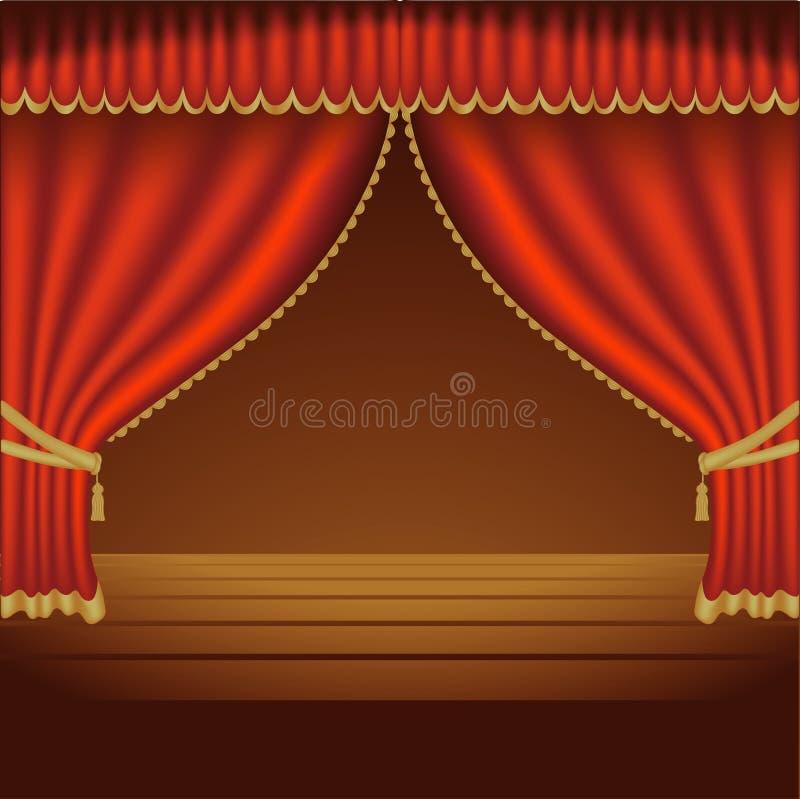 Teatro Courtains 01 ilustração stock
