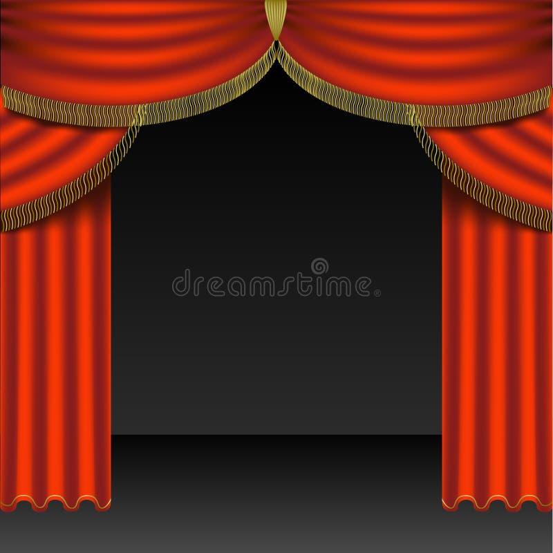 Teatro Courtains 04 ilustração royalty free