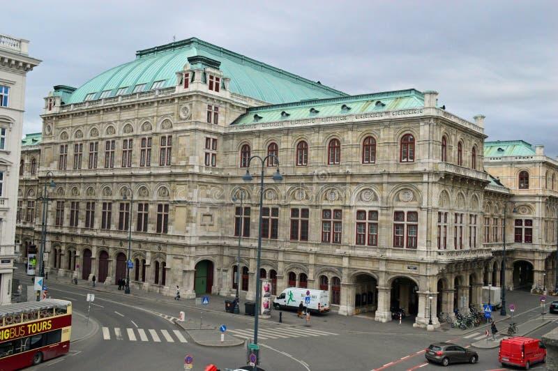Teatro da ópera Áustria do estado de Viena foto de stock