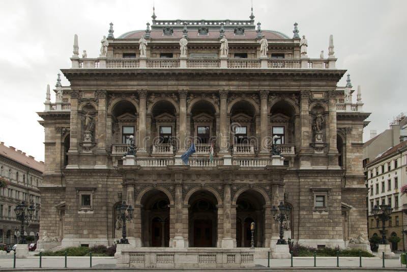 Teatro da ópera de Budapest fotos de stock royalty free