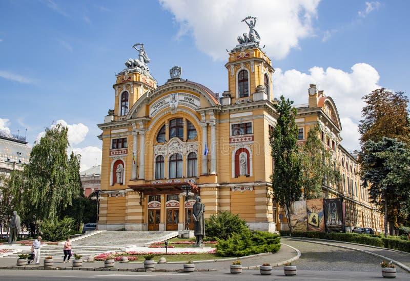 Teatro da ópera de Cluj Napoca imagens de stock