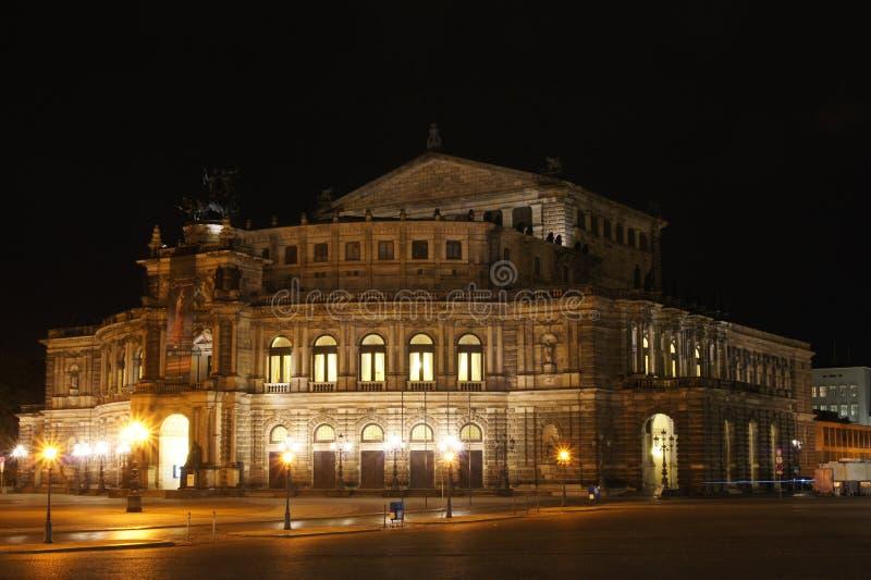 Teatro da ópera de Dresden fotos de stock