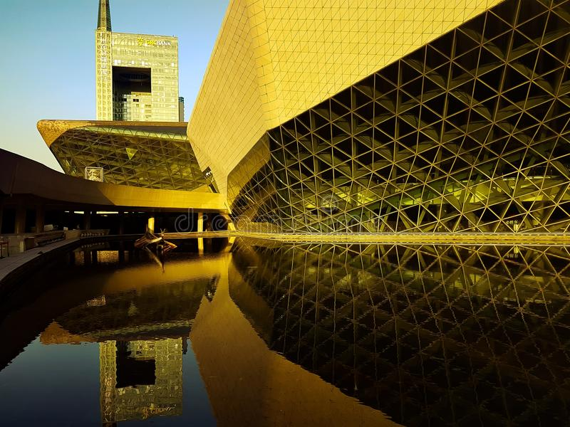Teatro da ópera de GZ foto de stock