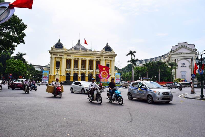 Teatro da ópera de Hanoi O Ha do Noi é o capital e a segunda - cidade a maior em Vietname imagem de stock royalty free