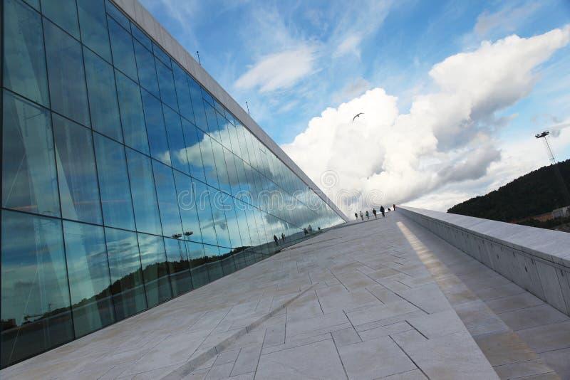 Teatro da ópera de Oslo fotografia de stock royalty free