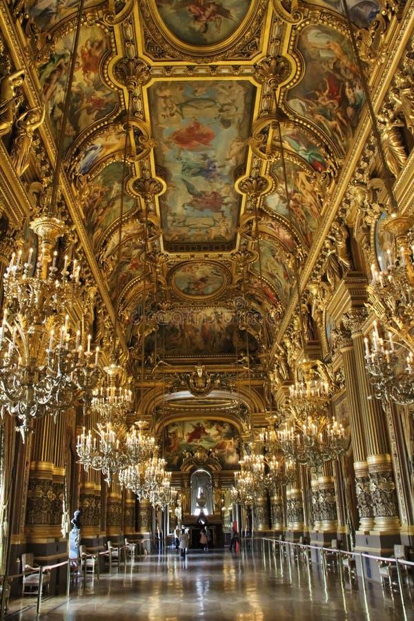 Teatro da ópera de Paris fotografia de stock
