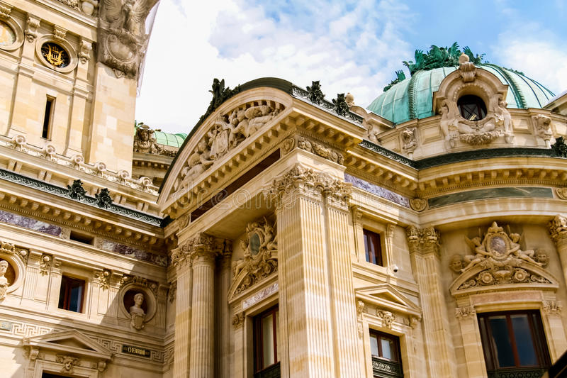 Teatro da ópera de Paris foto de stock
