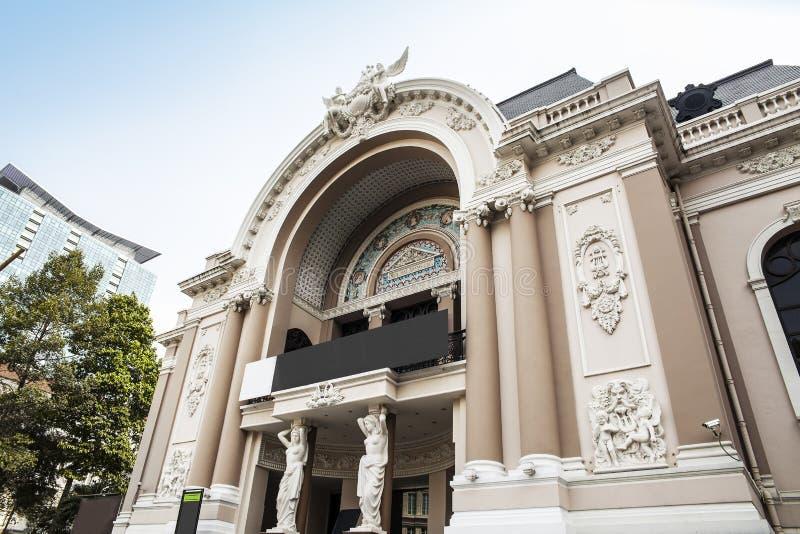 Teatro da ópera de Saigon ou teatro municipal de Ho Chi Minh City, Vietname. imagem de stock