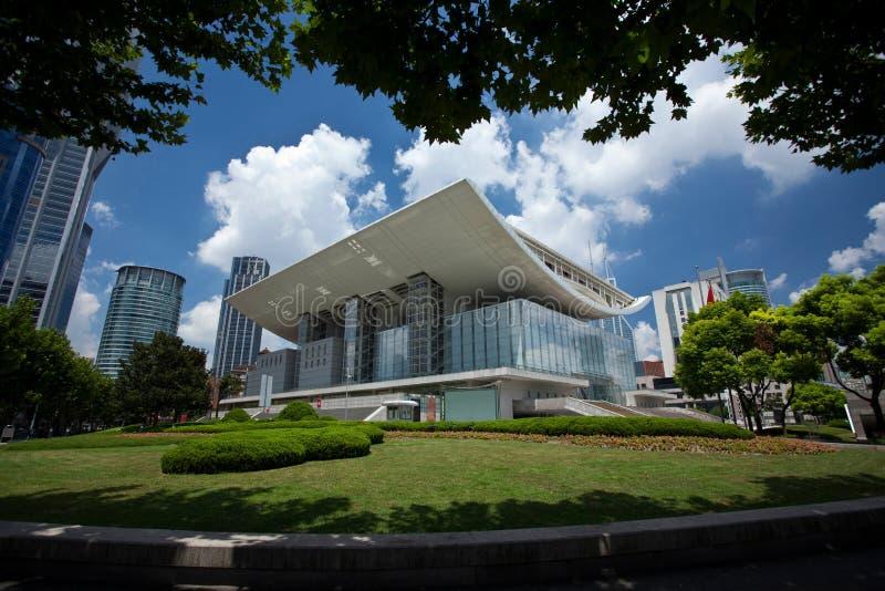 Teatro da ópera de Shanghai fotos de stock royalty free