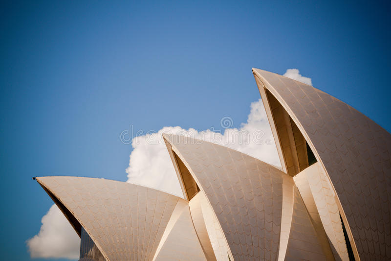 Teatro da ópera de Sydney fotografia de stock royalty free