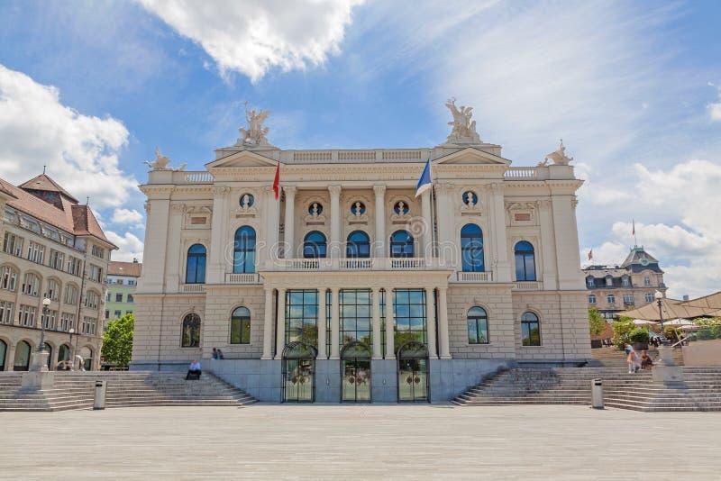 Teatro da ópera de Zurique imagem de stock