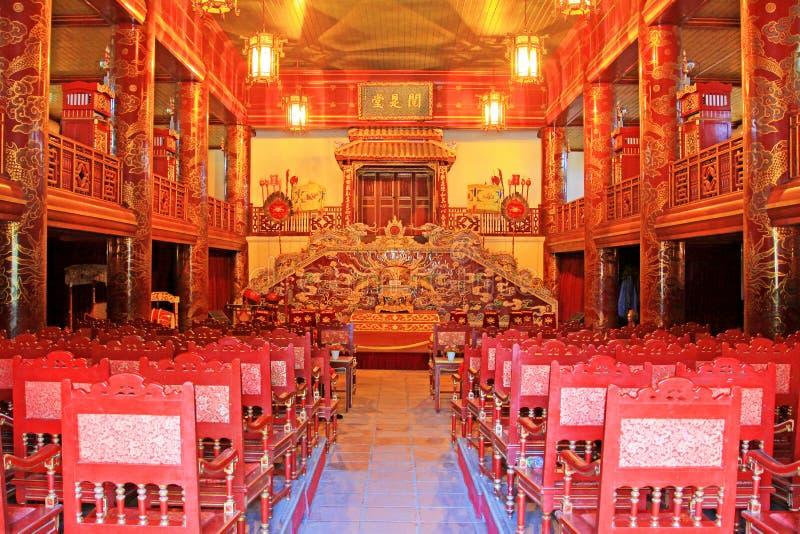 Teatro da ópera em Hue Imperial City, patrimônio mundial do UNESCO de Vietname fotografia de stock royalty free