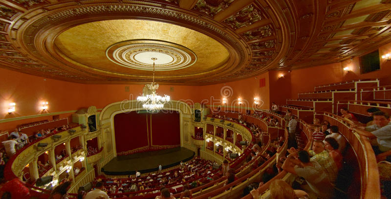 Teatro da ópera nacional - Bucareste fotografia de stock
