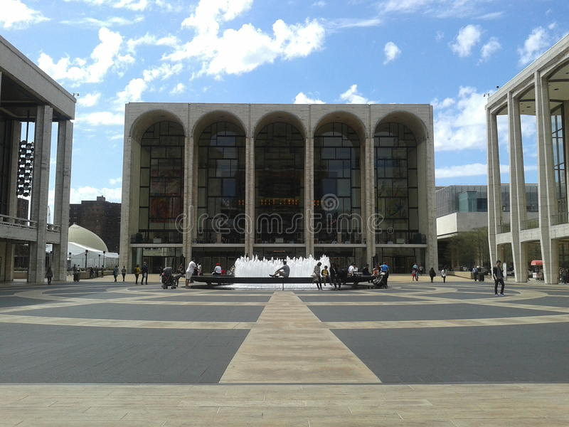 Teatro da ópera New York imagens de stock