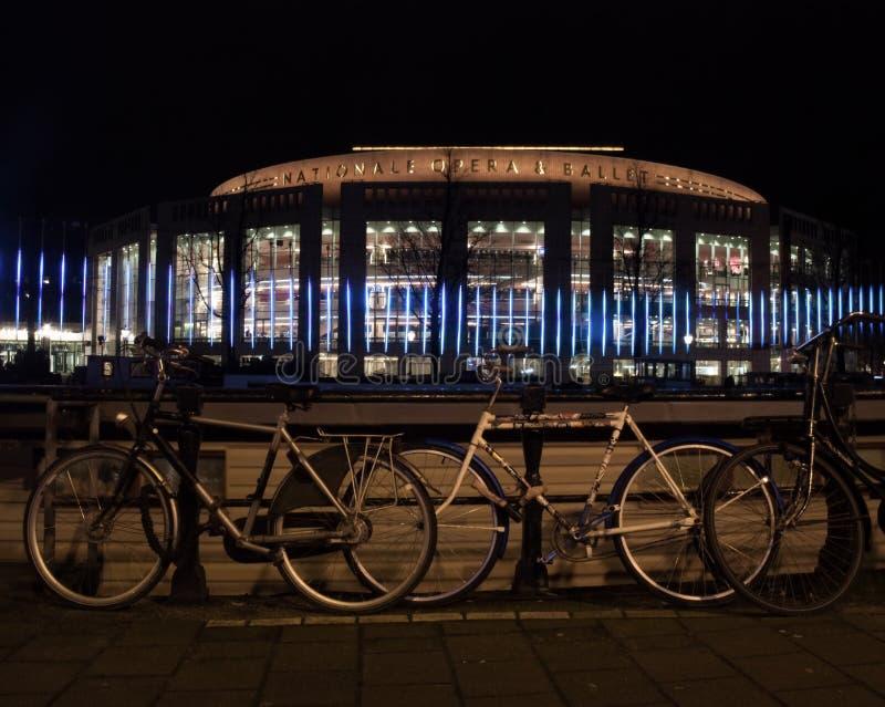 Teatro da música no festival da luz de Amsterdão imagem de stock
