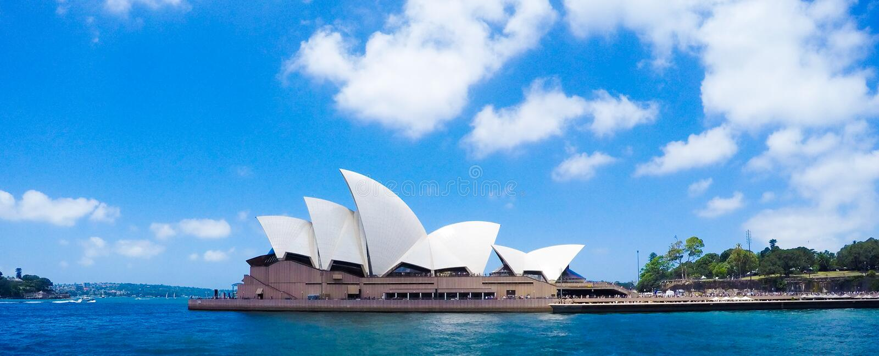 Teatro da ?pera de Sydney, Austr?lia Conceito mundialmente famoso dos marcos fotografia de stock royalty free