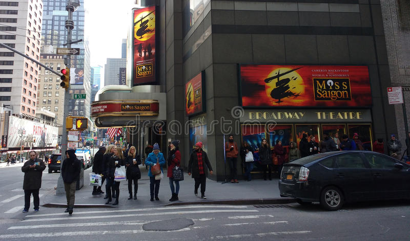 Teatro da senhorita Saigon At The Broadway, NYC, EUA foto de stock