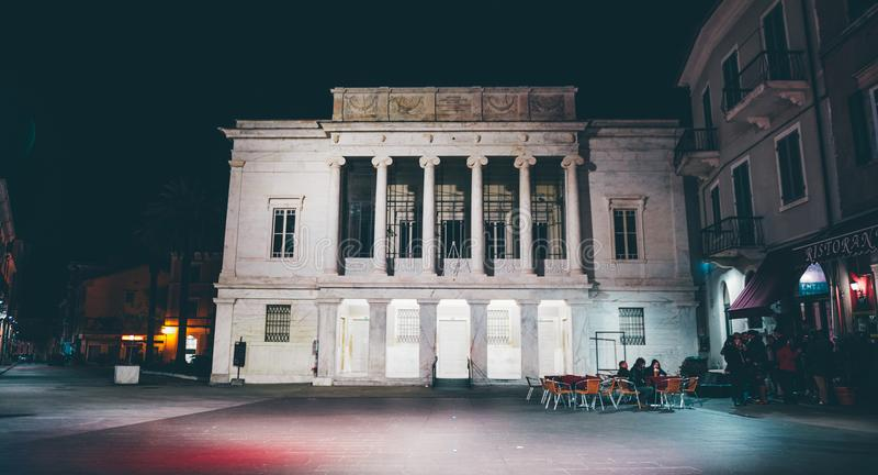 Teatro de Animosi em Carrara imagens de stock