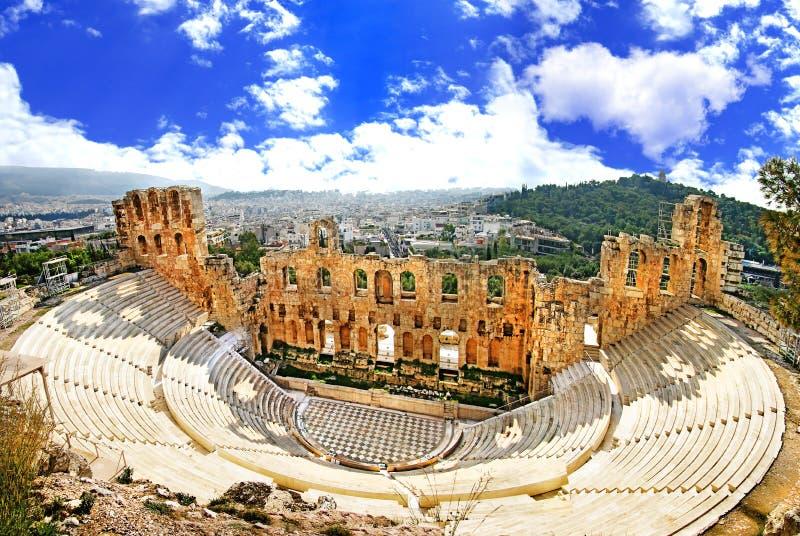 Teatro de Atenas fotografia de stock