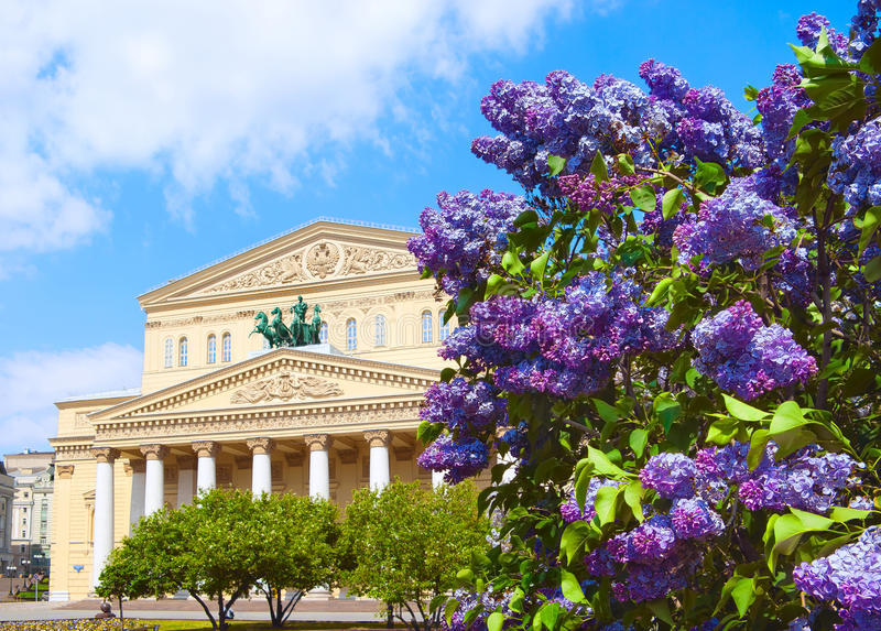 Teatro de Bolshoi imagens de stock