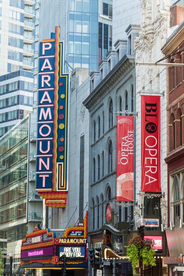 Teatro de Boston Paramount imagem de stock