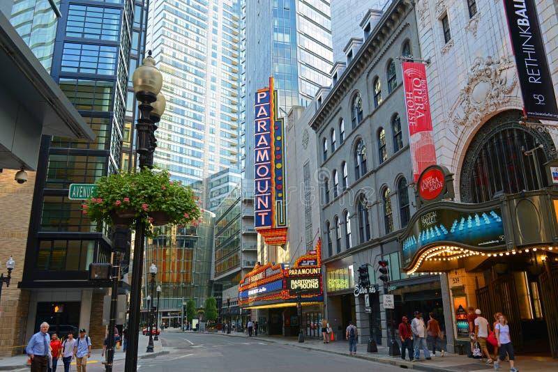 Teatro de Boston Paramount em Boston do centro, EUA imagens de stock royalty free