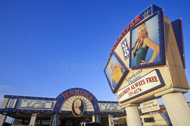 Teatro de BSG de Jennifer, Ozark Mountain Entertainment Center, Branson, MES imagenes de archivo
