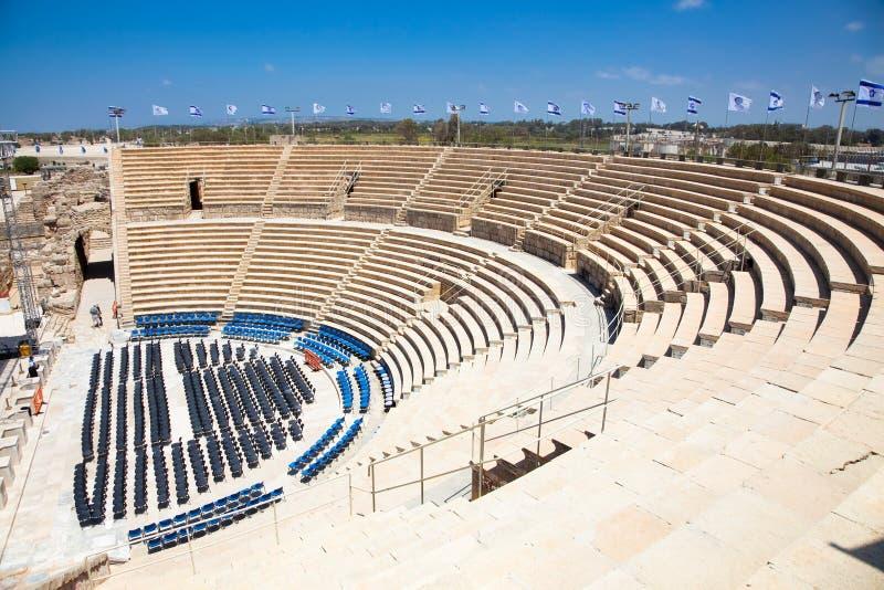 Teatro de Caesarea. Israel. imagens de stock royalty free
