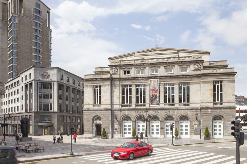 Teatro de Campoamor en el centro de la ciudad de Oviedo fotografía de archivo libre de regalías