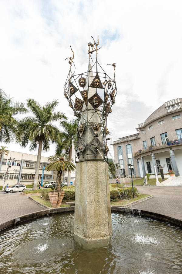Teatro de Carlos Gomes, Blumenau, Santa Catarina fotografia de stock royalty free