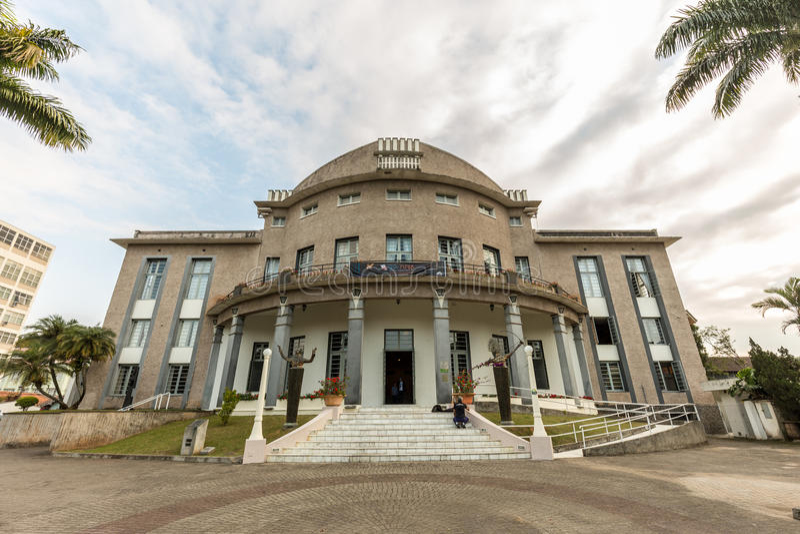 Teatro de Carlos Gomes, Blumenau, Santa Catarina imagem de stock