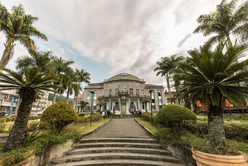 Teatro de Carlos Gomes, Blumenau, Santa Catarina imagens de stock