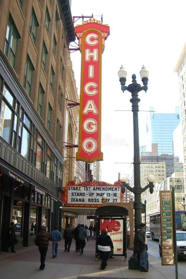 Teatro de Chicago foto de stock