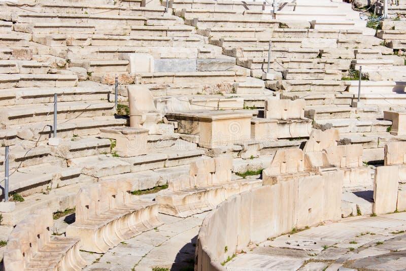 Teatro de Dionysus - detalle fotos de archivo libres de regalías