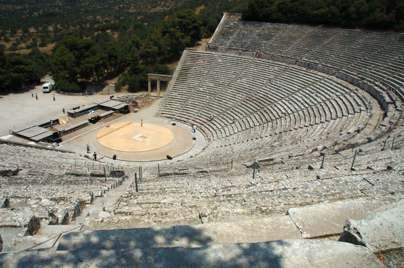 Teatro de Epidauros imagem de stock