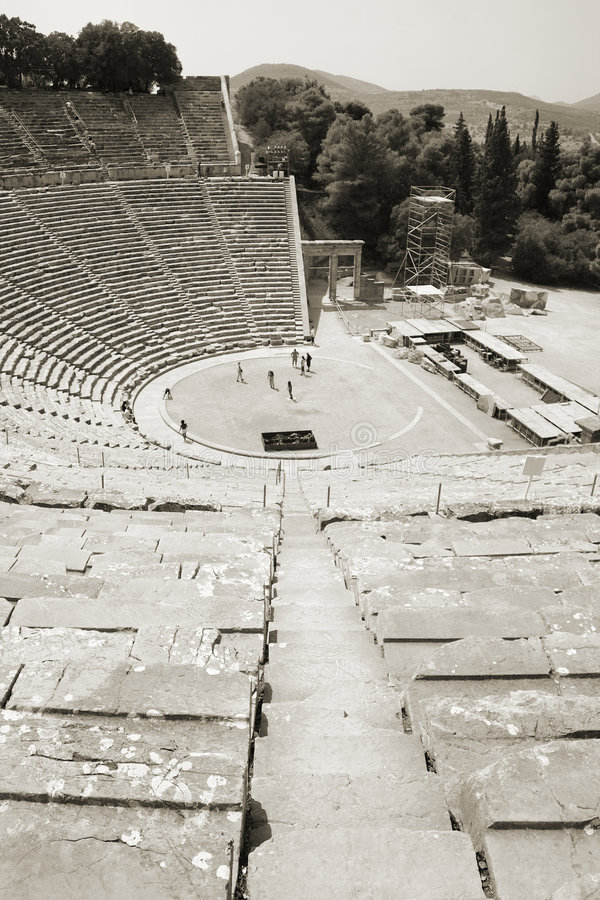 Teatro de Epidavros, Greece foto de stock royalty free
