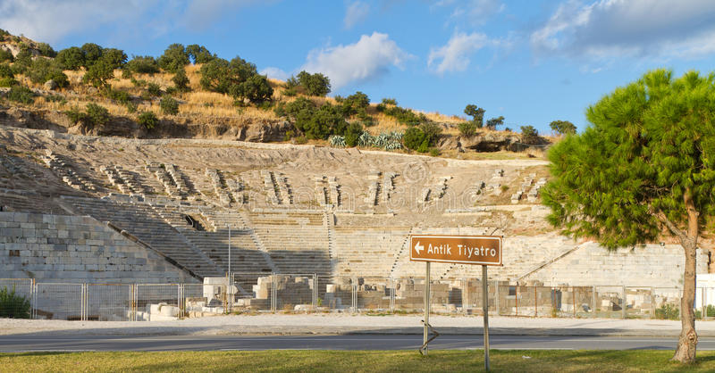 Teatro de Halicarnassus imagem de stock