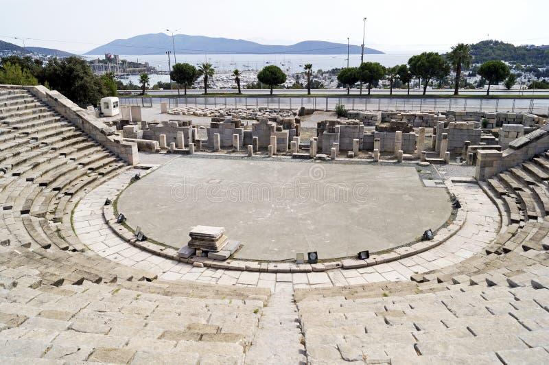 Teatro de Halicarnassus foto de stock